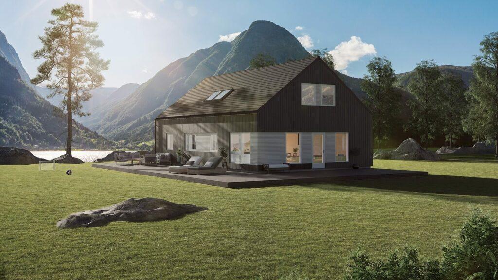 Illustrasjon av husmodellen Lundås Moderne