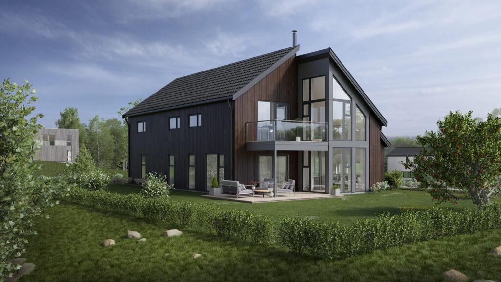 Illustrasjon av det moderne huset Nova