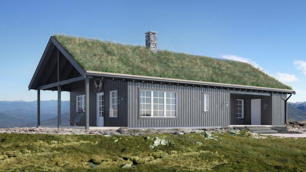 Illustrasjon av den tradisjonelle hyttemodellen Varden